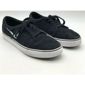 Nike Mens Athletic Sneakers Black Low Top Lace Ups
